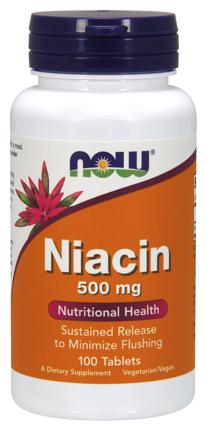 NOW Niacin 500 mg  Sustained Release Tabs 100s