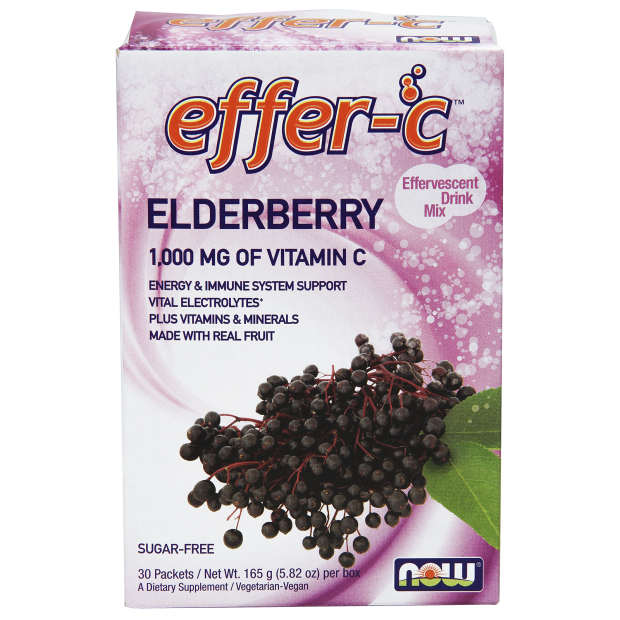 NOW Effer-C  Elderberry  30's Box Sugar Free