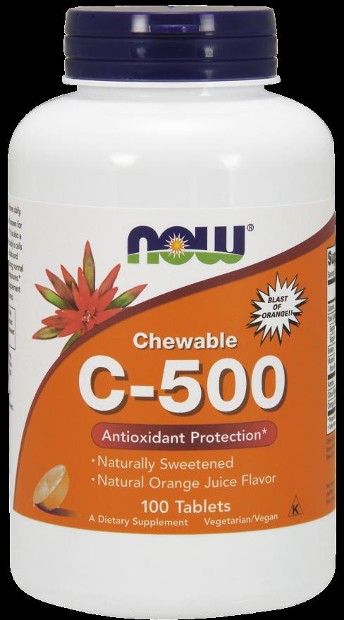 NOW C-500 Chew Orange Loz 100s