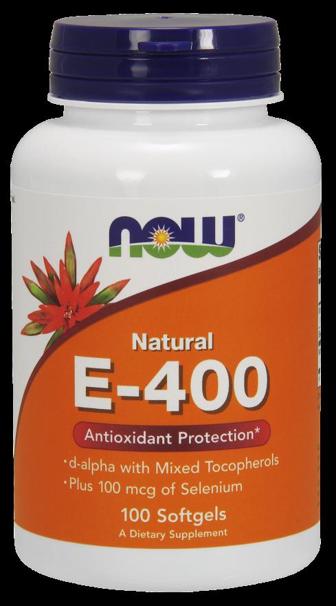 NOW E-400 Mixed Tocopherols & Selenium S/Gels 100s