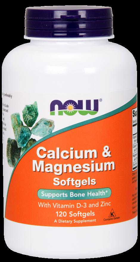 NOW Cal-Mag + D 120 softgels