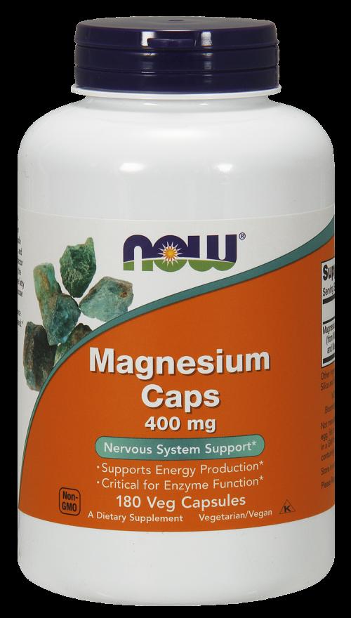 NOW Magnesium 400 mg  Caps 180s