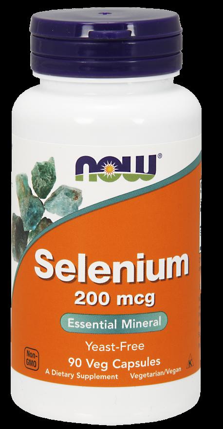 NOW Selenium 200 mcg 90 Vcaps
