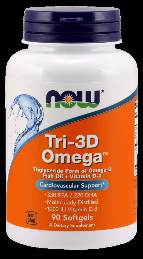 NOW Tri-3D Omega 1000mg 90 softgels