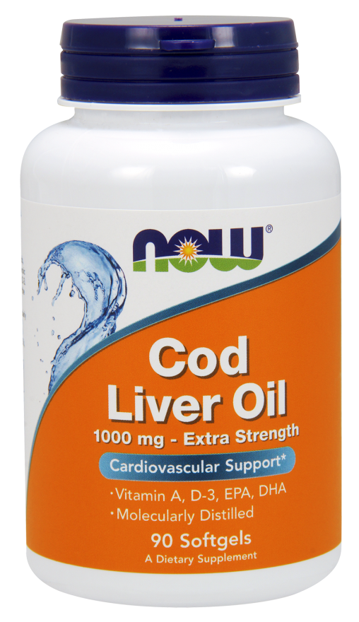 NOW Cod Liver Oil 1000 mg 90 softgels