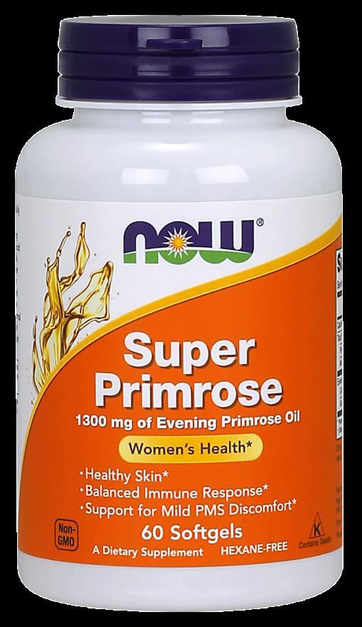 NOW Super Primrose 1300 mg Softgels