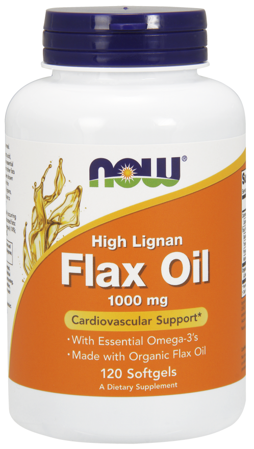 NOW Hi Lignan Flaxseed Oil 1000mg 120 softgels