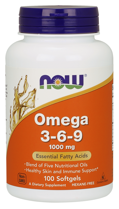 NOW Omega 3-6-9 1000mg S/Gels 100's