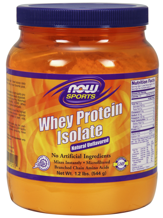 NOW Whey Protein Isolate 100% Pure 1.2 lb