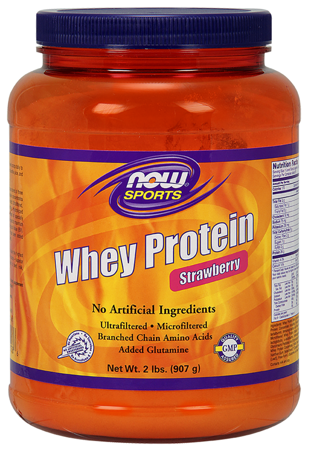 NOW Whey Protein Strawberry 2lb