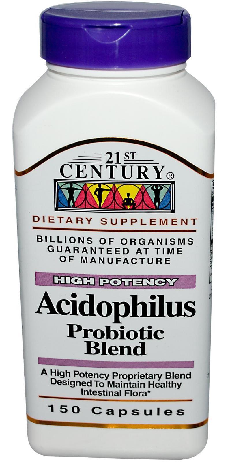 21st Century Acidophilus Probiotic Blend Caps 150's