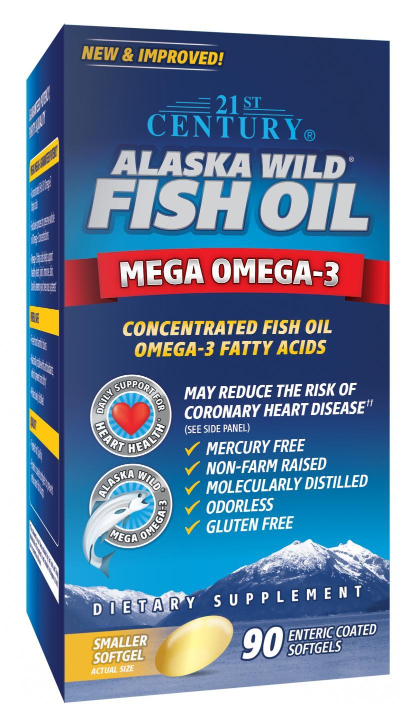 21st Century Alaska Wild Fish Oil E.C SG 90's