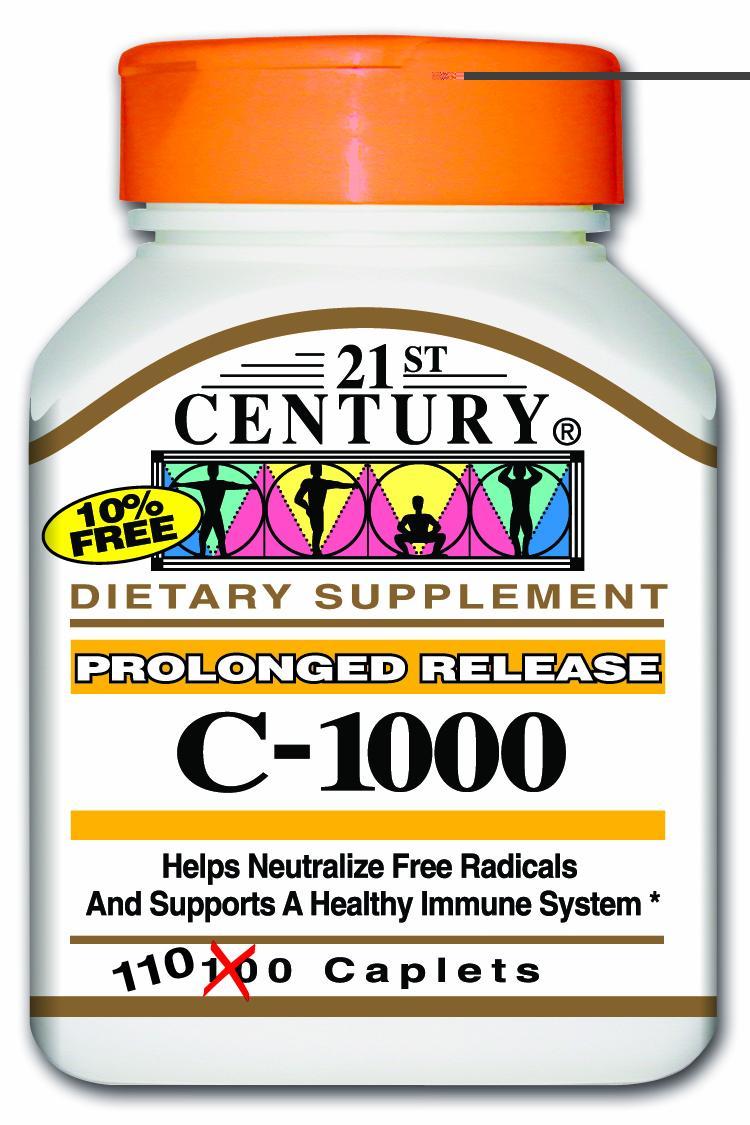 21st Century C-1000 mg Prolonged Release Caplets 110's