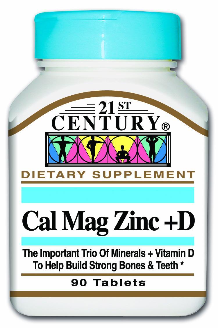 21st Century Cal Mag Zinc + D Tabs 90s