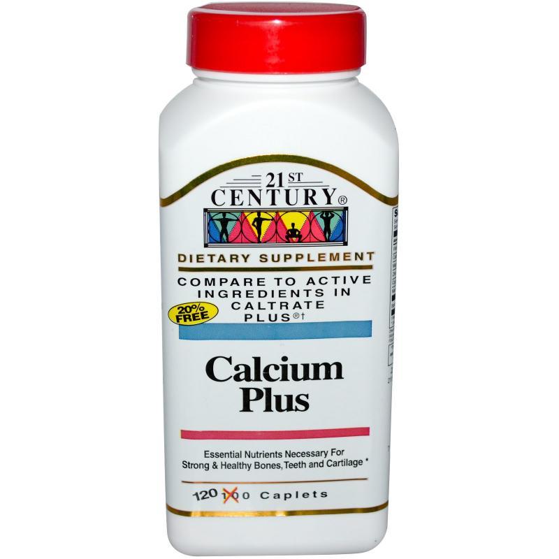 21st Century Calcium plus Caplets 120s