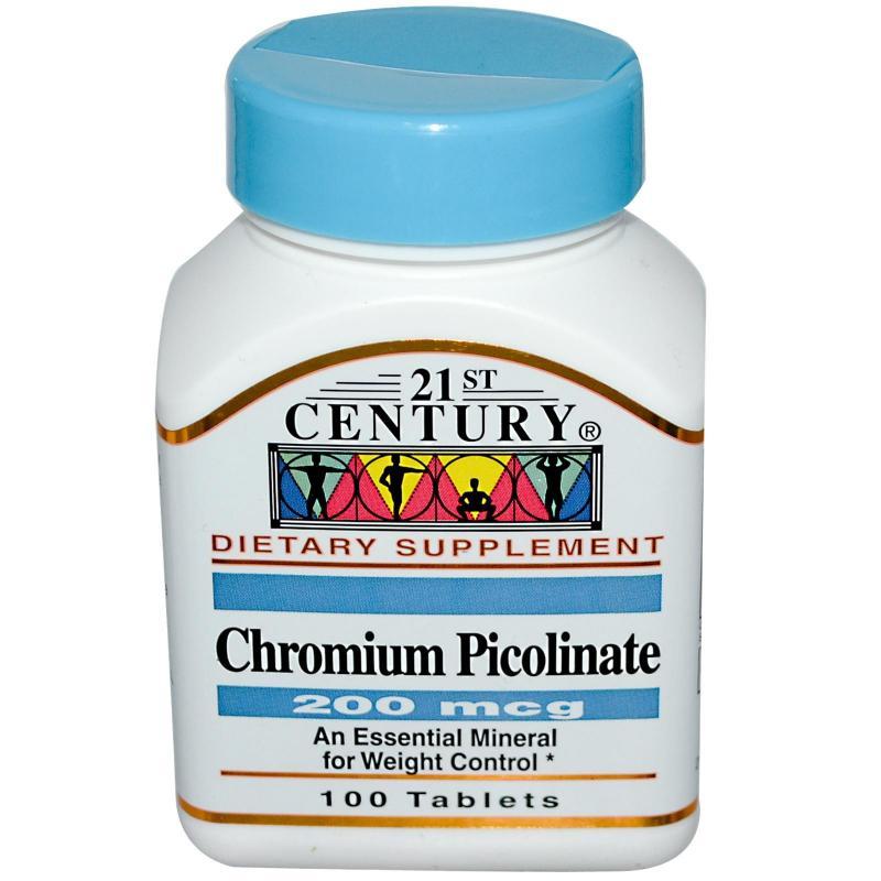 21st Century Chromium Picolinate 200 mcg Tabs 100's