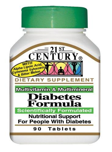 21st Century Diabetes Formula Tabs 90's
