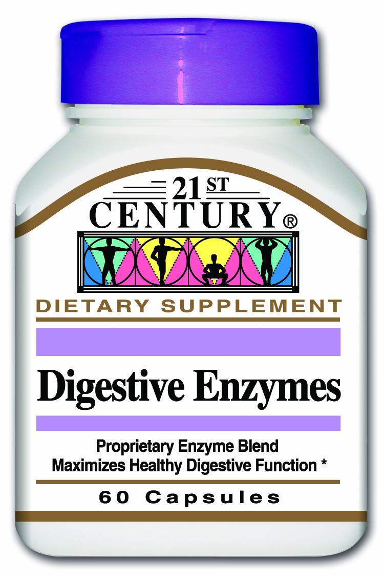 21st Century Digestive Enzyme Caps 60's