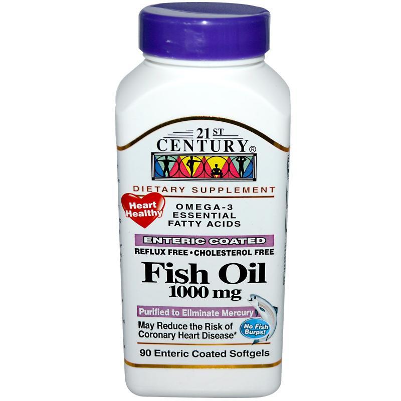 21st Century Omega-3 Fish Oil 1000mg E.C SG 90's