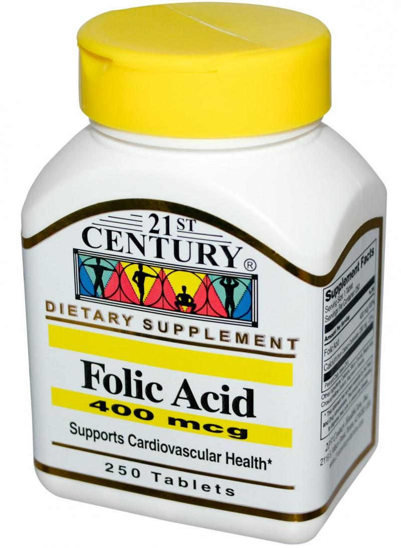 21st Century Folic Acid 400mcg Tabs 250's