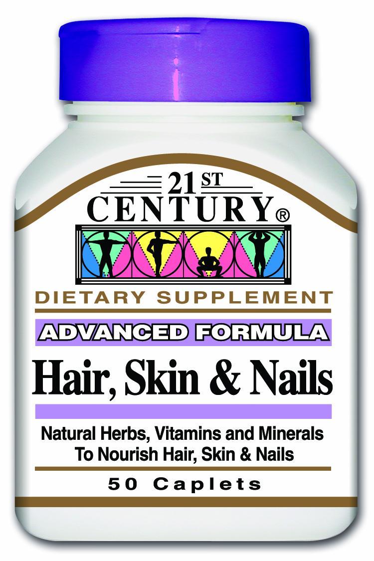 21st Century Hair, Skin & Nails Caplets 50's