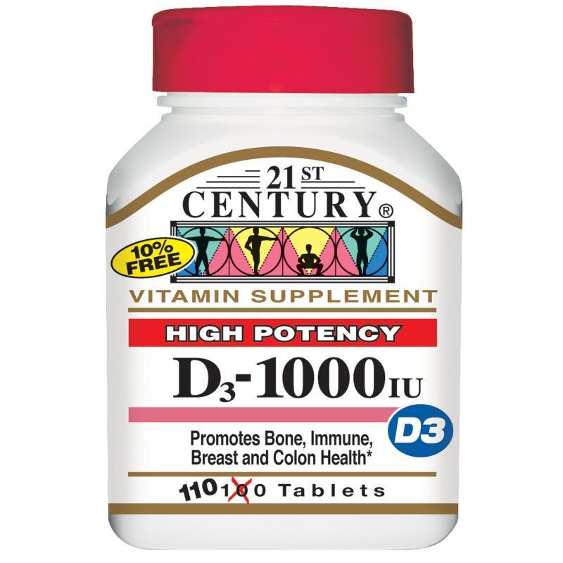21st Century D-1000 i.u. Tabs 110's