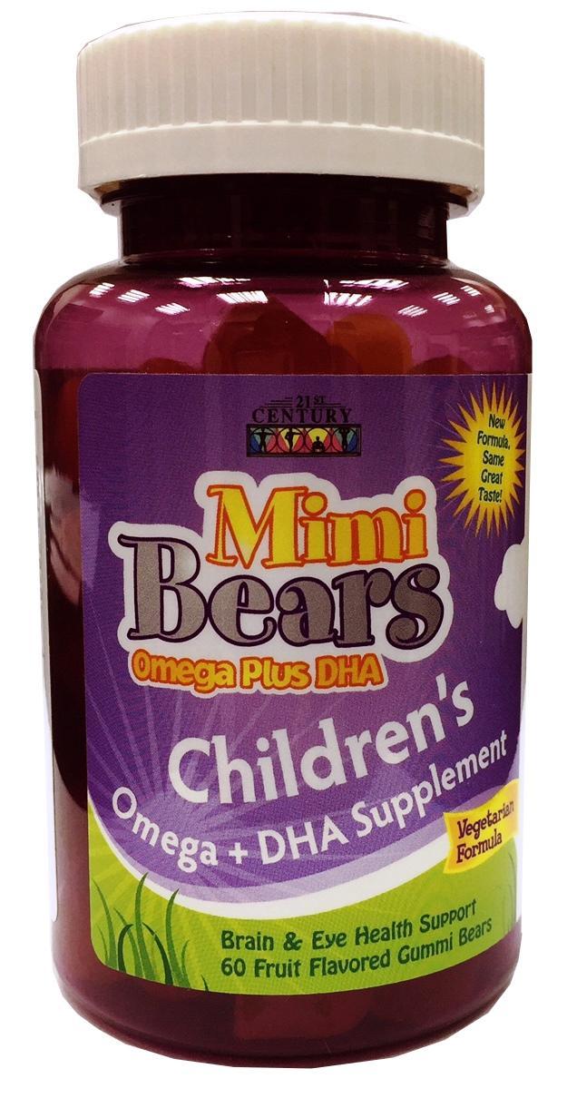 21st Century Mimi Bears Omega Plus DHA Chew 60's