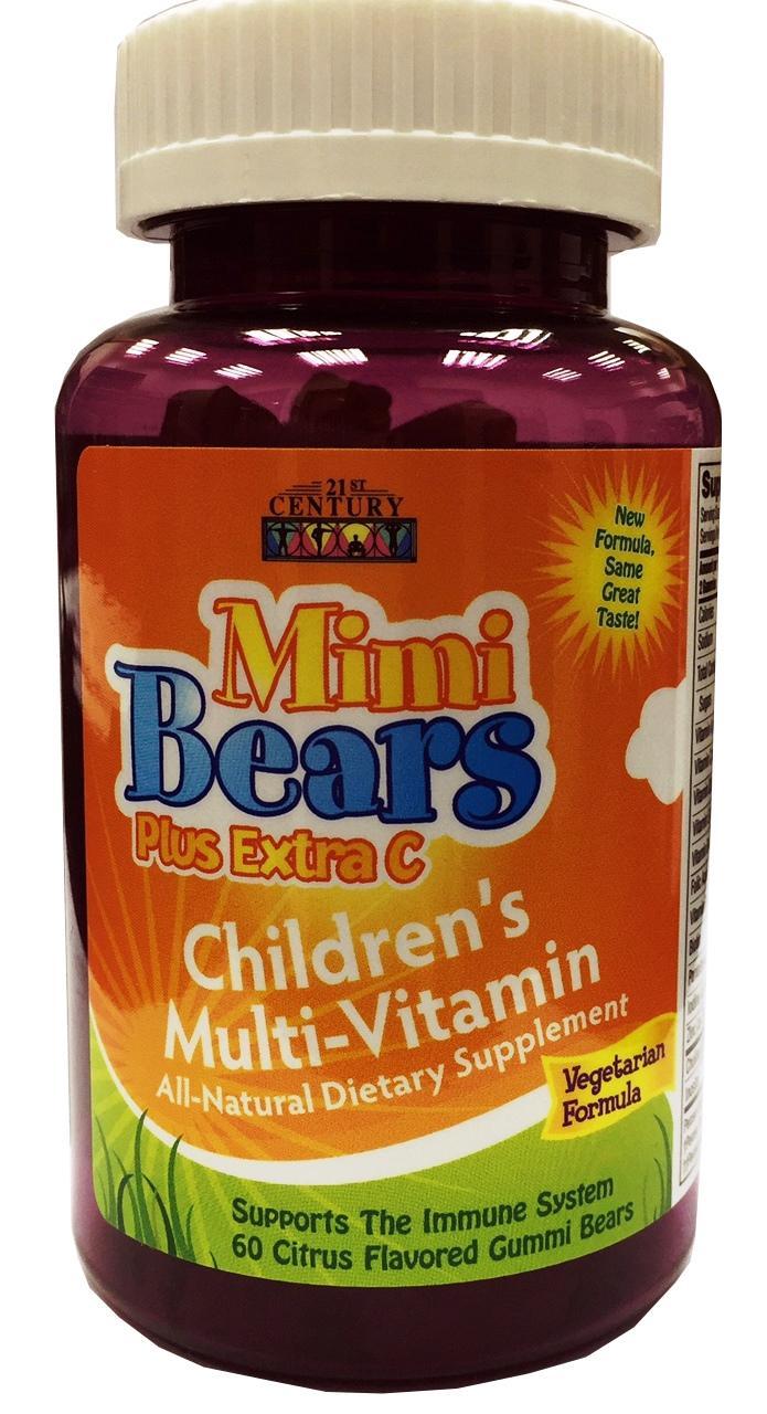 21st Century Mimi Bears Plus Extra C Chew 60's
