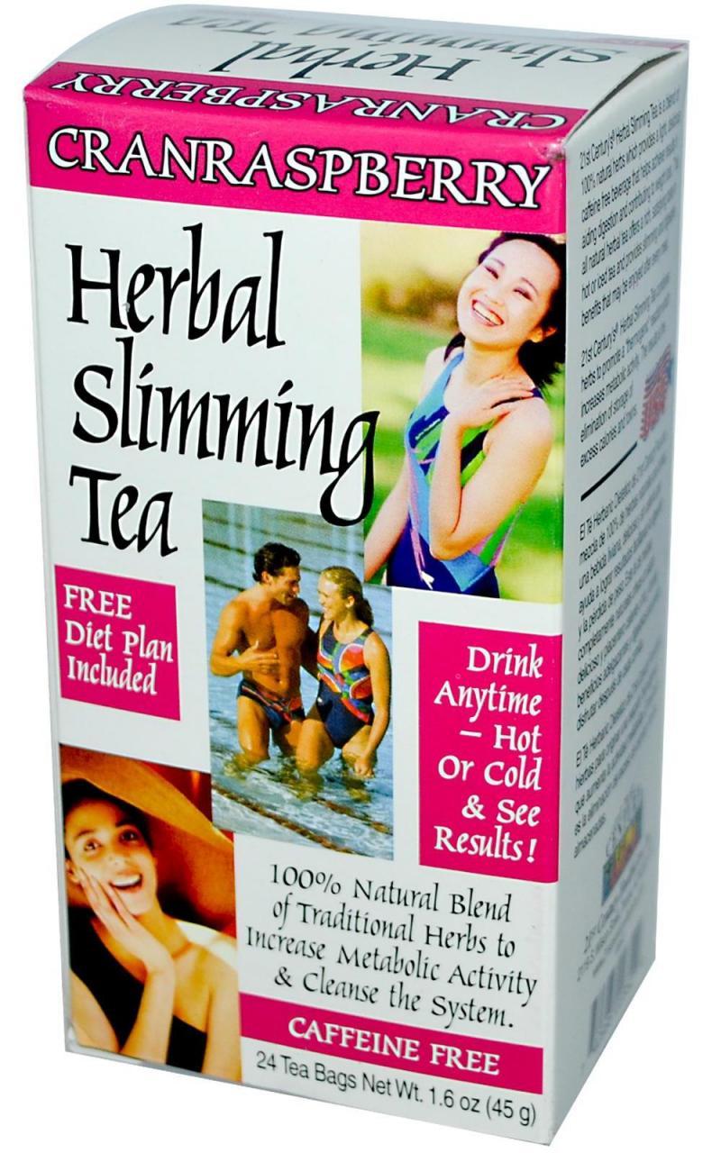 21st Century Herbal Slimming Tea-Cranraspberry 24 Bags
