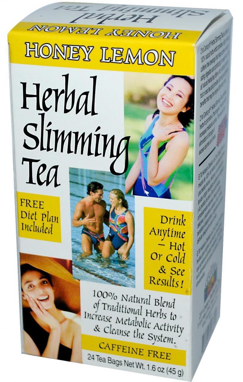21st Century Herbal Slimming Tea-Honey Lemon 24 Bags
