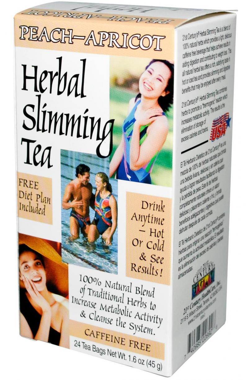 21st Century Herbal Slimming Tea-Peach-Apricot 24 Bags