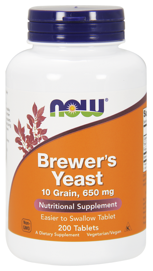 NOW Brewer's Yeast 650 mg Tablets