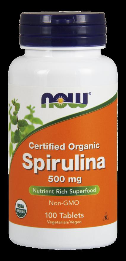 NOW Spirulina 500 mg Tablets, Organic