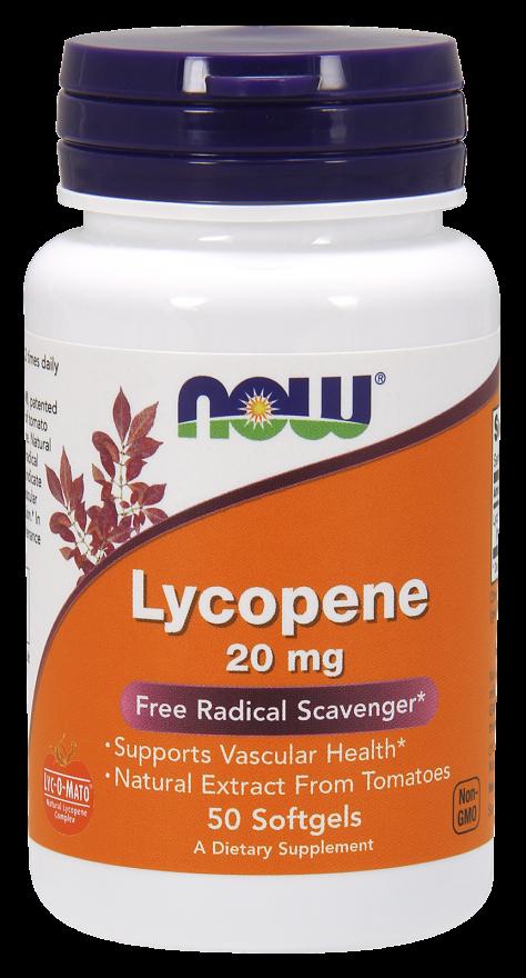NOW Lycopene 20 mg Softgels