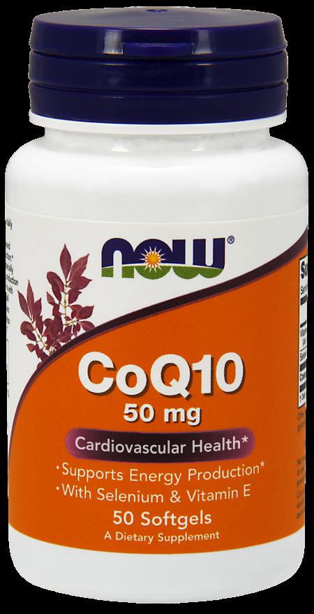 NOW CoQ10 50 mg Softgels
