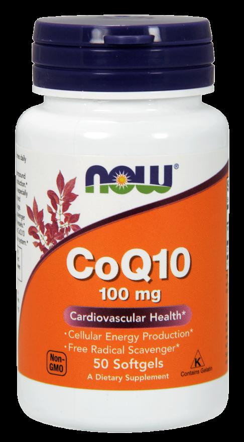 NOW CoQ10 100 mg Softgels