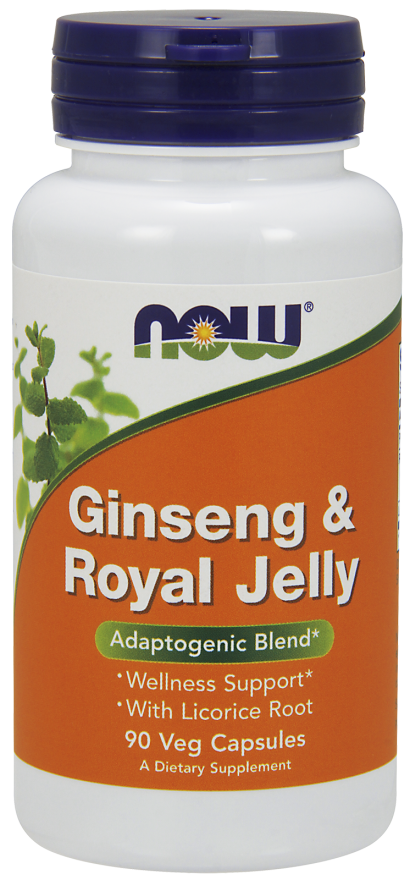 NOW Ginseng & Royal Jelly Veg Capsules