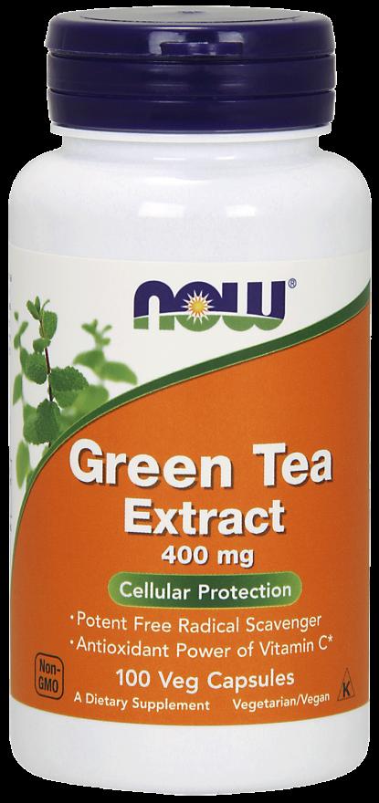 NOW Green Tea Extract 400 mg Veg Capsules