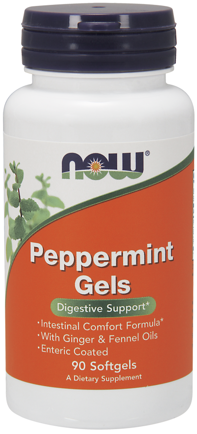 NOW Peppermint Gels Softgels