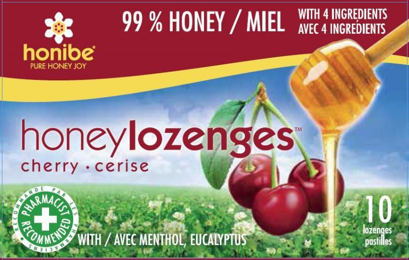 Honibe Honey Lozenges Cherry