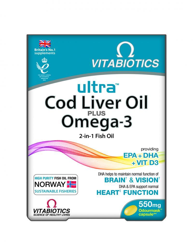Vitabiotics Ultra Omega 3 & CLO 60 Caps