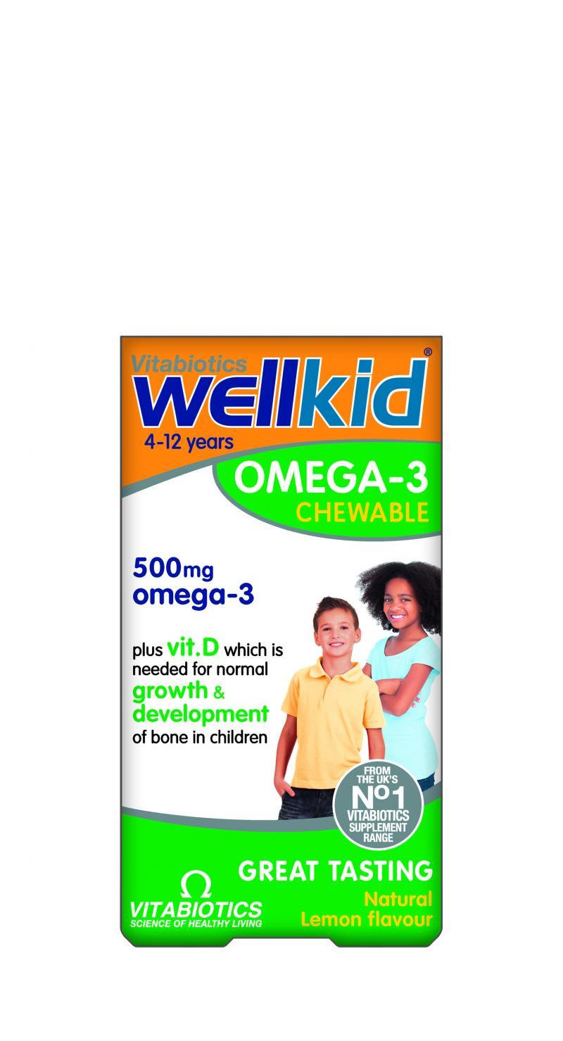 Vitabiotics Wellkid Omega-3 Chewable 60 Caps