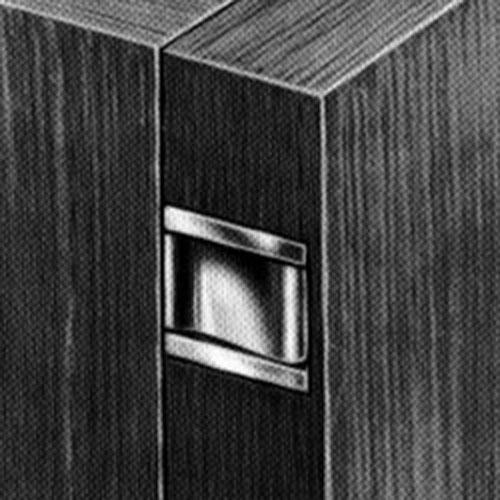 Half concealed hinge with elongated mortise