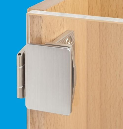 Overlay glass door hinge for 6-12 mm glass thickness
