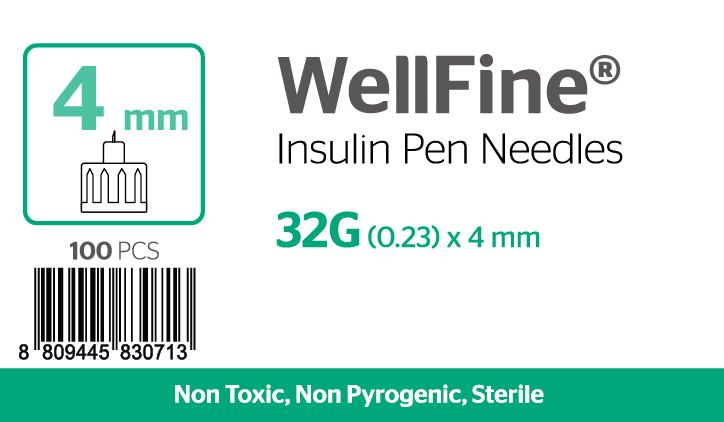 WellFine 32Gauge x (0.23mm) 4mm