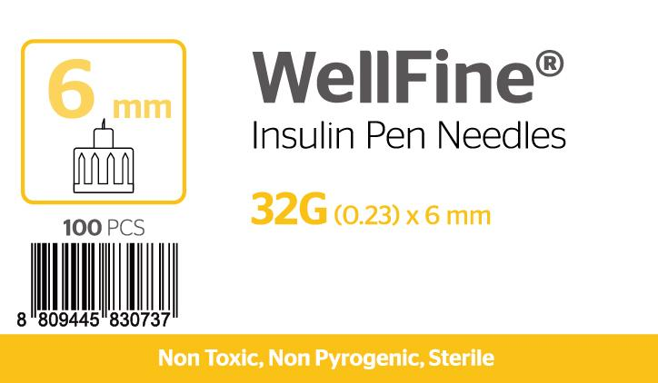 WellFine 32Gauge x (0.23mm) 6mm