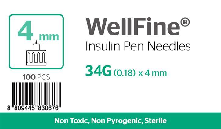 WellFine 34Gauge x 0.18mm 4mm