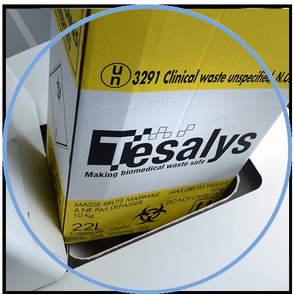 TESABOX : Biohazardous waste containers