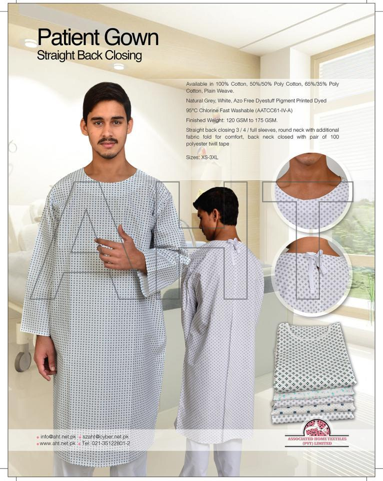PATIENT GOWN ( STRAIGHT BACK CLOSING ) | ASSOCIATED HOME TEXTILES ...