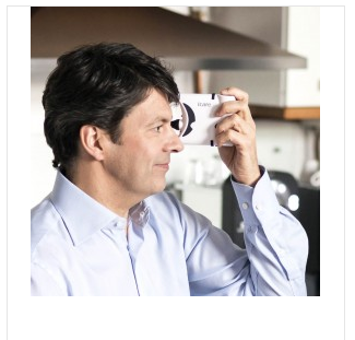 Icare HOME tonometer for home use by glaucoma patients